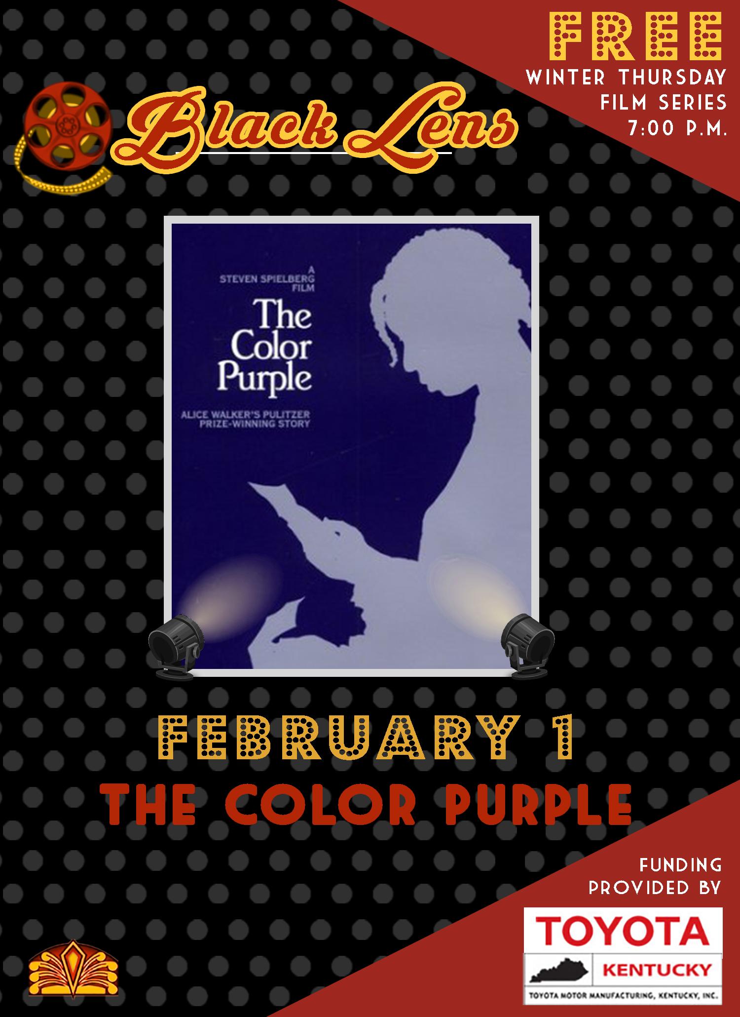 black lens- the color purple