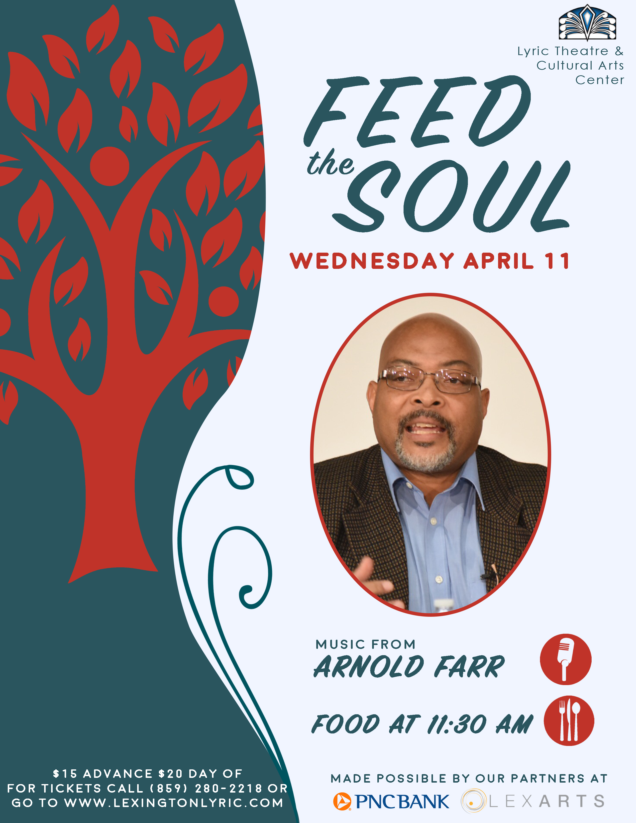 feed the soul arnold farr community flyer