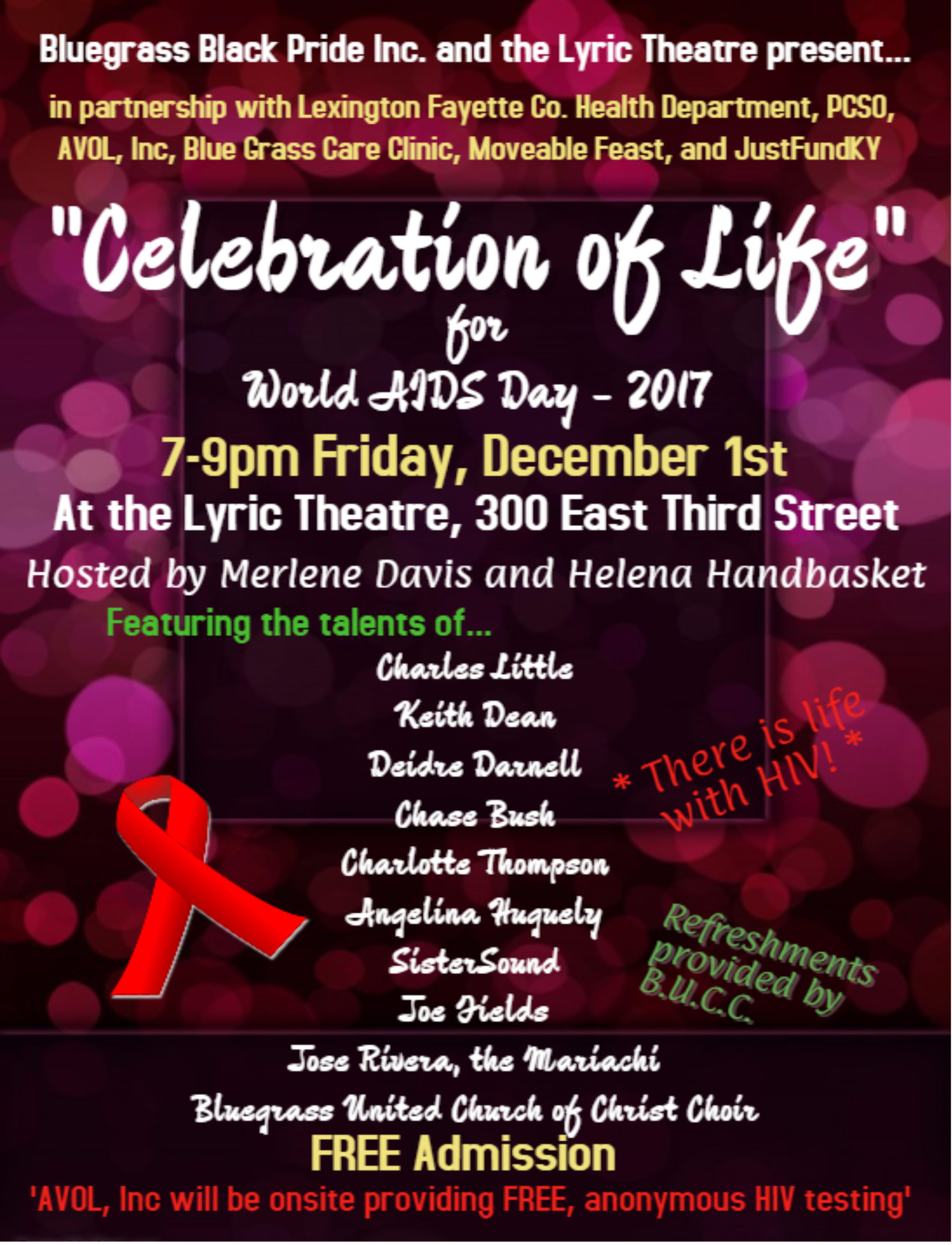 Ticket Sales - World AIDS Day - Celebration of Life at ...
